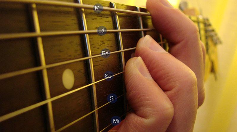 Notas musicais de violão
